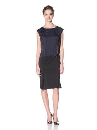 Nina Ricci Women's Two-Tone Zip Dress (Black)