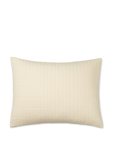 Org OM Quilted Sham (Ivory)