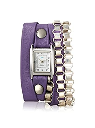 La Mer Collections Women's LMMULTI7605 Egpytian Chain Purple Leather Watch