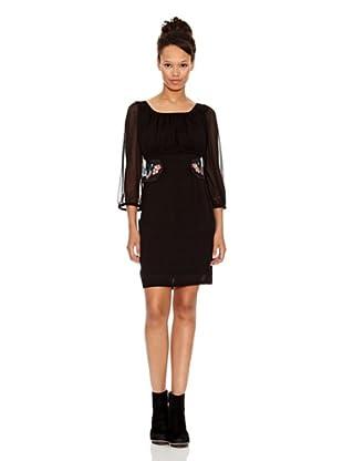 Desigual Vestido Anuncio (Negro Estampado)