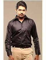 Swank Mens Formal Shirt Jet Black