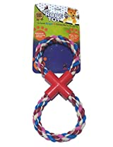 Super Dog Double Ring Rope toy Small
