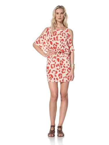 Leyendecker Women's Alexis Open Sleeve Dress (Crimson Dalmation)