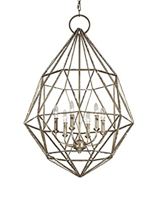 Feiss 6-Light Marquise Chandelier, Burnished Silver
