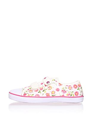 Pablosky Kid's Floral Sequin Sneaker (Beige)