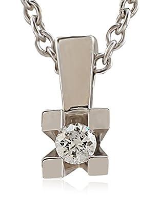 Divas Diamond Collar Solitare Plata