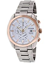 Citizen Eco-Drive Analog White Dial Men's Watch - CA0024-55A