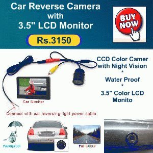 Car Reverse CCTV Camera with 3.5 LCD monitor