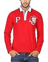 Paani Puri Men's Polo (MPLPP115_Red_Small)