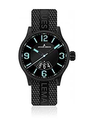 Jacques Lemans Quarzuhr Porto Luminous 1-1729 schwarz 42 mm