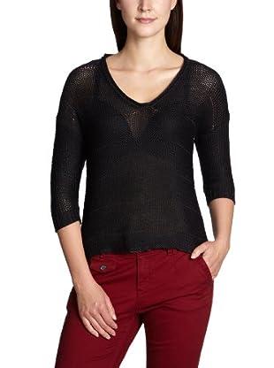 ONLY Pullover, V-Ausschnitt (Schwarz)