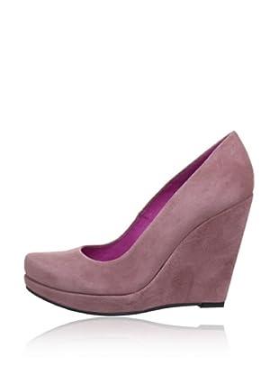 Buffalo London 9669-198 KID SUEDE 143101 - Zapatos de vestir de cuero  mujer (Rosa)