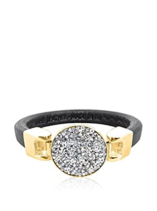 Philippa Pulsera Crysal Rock metal bañado en oro 24 ct