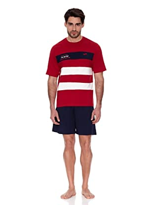 Abanderado Pijama Algodón estampado (Rojo / Marino)