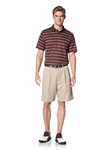 PGA Tour Men's Short Sleeve Stripe Polo (Port Royale)