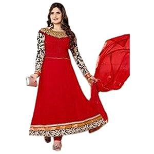 Bollywood Actress Zarine Khan Red Anarkali Salwar Suits