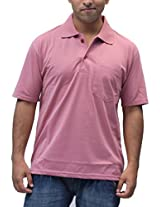 Romano Men's Cotton Polo Pink