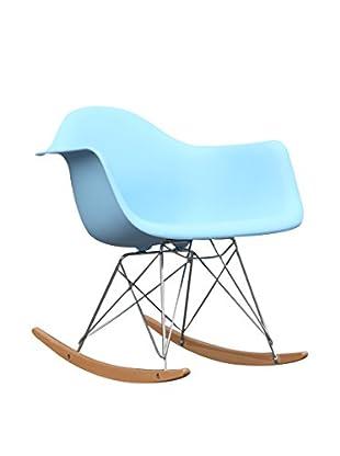 Manhattan Living Rocker Arm Chair, Light Blue