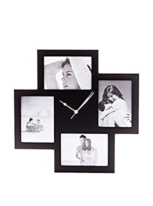 Contemporary Living Wanduhr Collage 4F schwarz