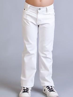 Timberland Kids Pantalón 5 bolsillos (blanco)