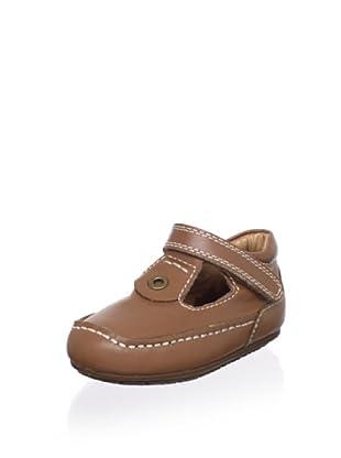 Venettini Kid's Luke T-Strap Loafer (Luggage Leather)