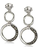 "Argento Vivo ""Lunar"" Marcasite Figure 8 Post Earrings"