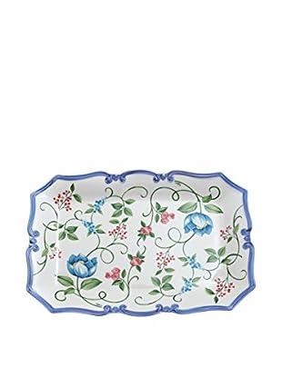 Tiffani Tablett Rettangolare ⌀ 46 cm Paradis weiß/azurblau