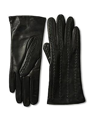 Portolano Women's Zig Zag Stitched Gloves (Black/Dark Pine)