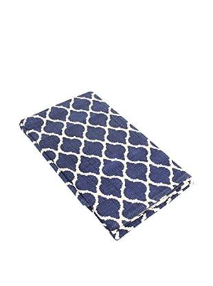 Glam Home Teppich Saman blau/weiß