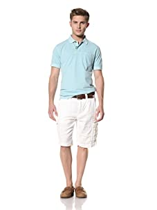 Tailor Vintage Men's Linen Cargo Short (White)