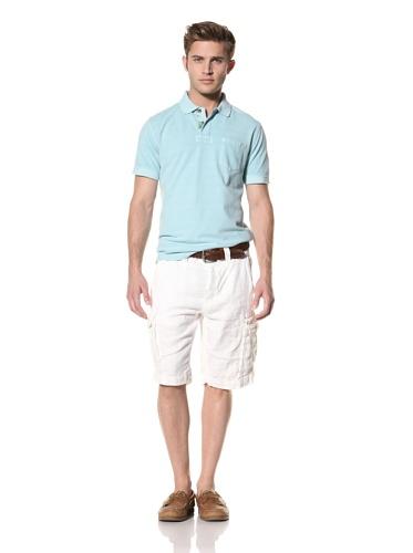 Tailor Vintage Men's Linen Cargo Short (White)