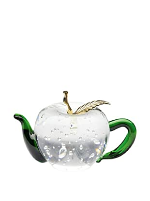 Dynasty Gallery Hand-Made Glass Apple Teapot