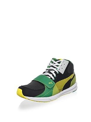 Puma Bolt Evospeed XT Marley Running Shoe (Black/Dark Shadow/Super Lemon)
