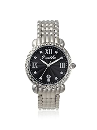 Bertha Women's BR1102 Ruth Silver/Black Stainless Steel Watch