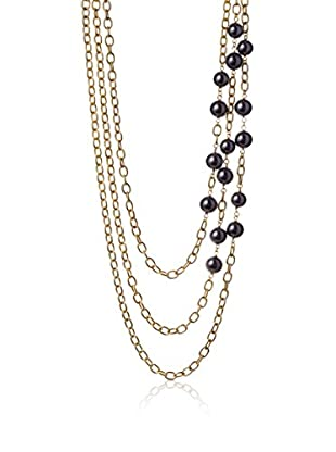 Ben-Amun Pearl Detail Chain Torsade Necklace