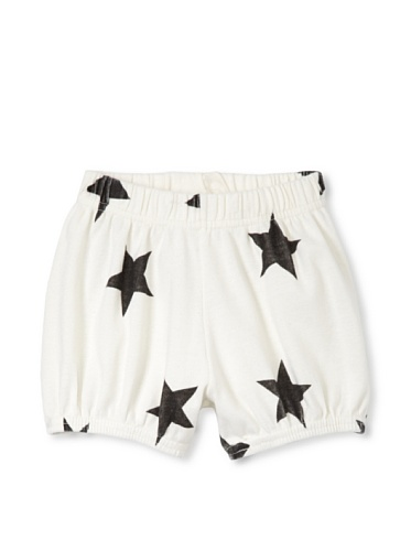 NUNUNU Baby Star Yoga Shorts (White)