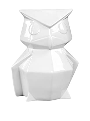 Ceramic Owl, White