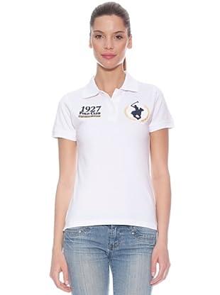 Polo Club Polo manga corta Custom Fit Big Horse & Number (Blanco)