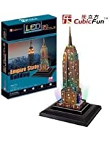 3D Empire State Building Puzzle (With LED lighting!)