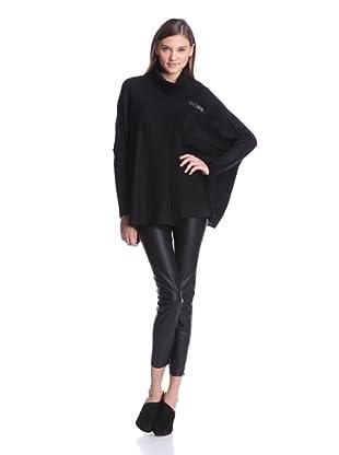 Calvin Klein Women's Sweater Cape (Black)