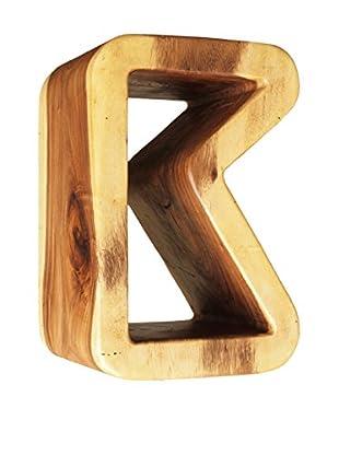 Asian Art Imports K Stool, Natural Wood