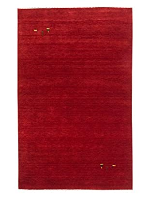 eCarpet Gallery One-of-a-Kind Hand-Knotted Kashkuli Gabbeh Rug, Red, 4' x 6'