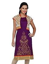 Kashish Women's Kurta (9209625-Purple-XX-Large)