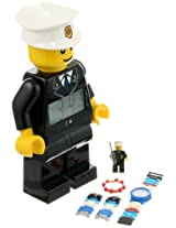 LEGO Kid's 9009938 City Policeman Minifigure Clock and Watch Set