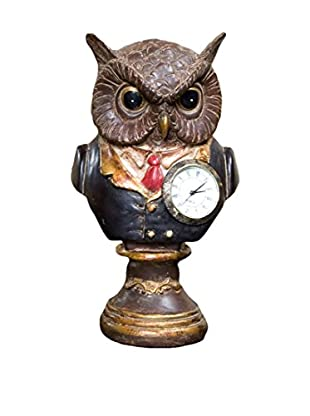 Winward Handcrafted Decorative Owl With Base, Multi