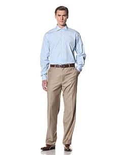 Domenico Vacca Men's Striped Button-Up Shirt (Bright Blue Stripes)