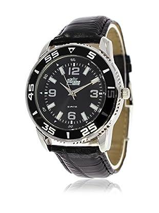 Pit Lane Uhr mit Miyota Uhrwerk Pl-3001-2 schwarz 40 mm