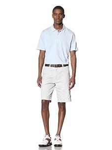 Hawke & Co Men's Heather Solid Pique Polo Shirt (Sky Blue)