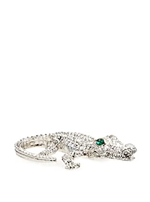 Isabella Adams Small Swarovski Crystal Crocodile Paperweight, Silver