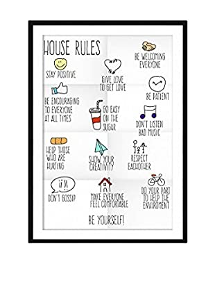 Little Nice Things Wandbild House Rules